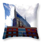 There Where Modern And Old Architecture Meet Throw Pillow