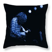 There's A Blue Light Throw Pillow