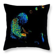 There's A Cosmic Light 2 Throw Pillow