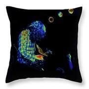 There's A Cosmic Light Throw Pillow