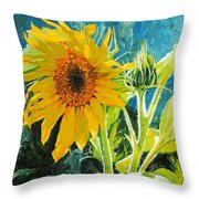 There's A New Bud In Town Throw Pillow by Chris Steinken