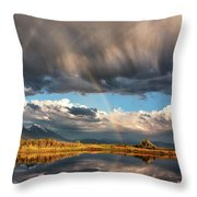 Theres A Rainbow In Every Storm Throw Pillow