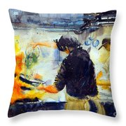 There's A Rush On Throw Pillow