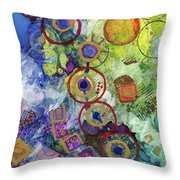 There's Always A Blue Thread Through It Throw Pillow
