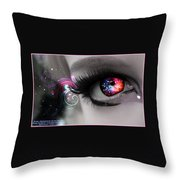 There's Magick In The Eyes Throw Pillow