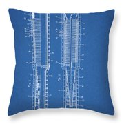 Thermojet Engine Patent Throw Pillow