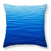 These Are Water Reflections In Lake Throw Pillow