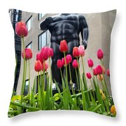 These Tulips Are For You Throw Pillow
