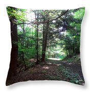 These Woods Throw Pillow