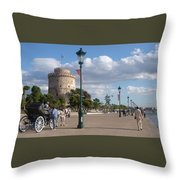 Thessaloniki City  Throw Pillow