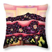 Theta Frequency Throw Pillow