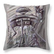 They Are Here... Throw Pillow