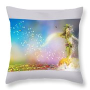 They Call Me Spring Throw Pillow