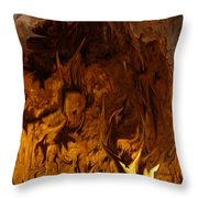 They Dance In The Firelight Throw Pillow