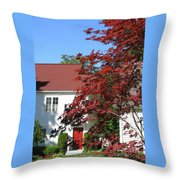 They Like Red Throw Pillow
