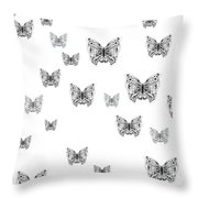 They Might Be Butterflies Throw Pillow