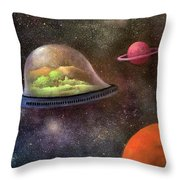 They Took Their World With Them Throw Pillow