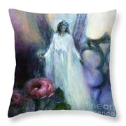 They Wait, Seasons Greetings Throw Pillow
