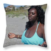 Thick Beach 16 Throw Pillow