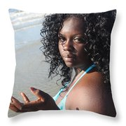 Thick Beach 17 Throw Pillow