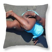 Thick Beach 2 Throw Pillow