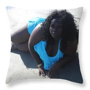 Thick Beach 4 Throw Pillow