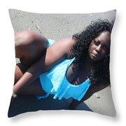 Thick Beach 5 Throw Pillow