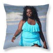 Thick Beach 7 Throw Pillow