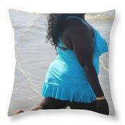 Thick Beach 8 Throw Pillow