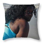 Thick Beach 9 Throw Pillow