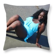Thick Beach  Throw Pillow