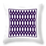 Thick Curved Trellis With Border In Purple Throw Pillow