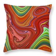 Thick Paint Orange Abstract Throw Pillow