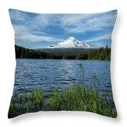 Thillium Lake And Mt Hood Throw Pillow