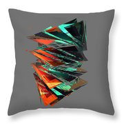 Thin Glass Triangles - 127 Throw Pillow
