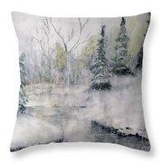 Thin Ice Throw Pillow