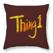 Thing 1 Throw Pillow