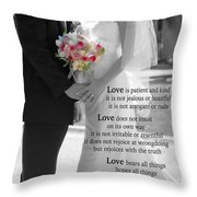 Things To Remember About Love - Black And White #3 Throw Pillow