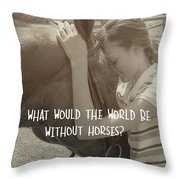 Think As One Quote Throw Pillow