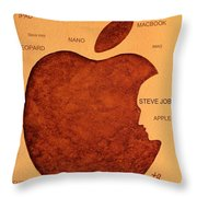 Think Different Steve Jobs 2 Throw Pillow by Georgeta  Blanaru