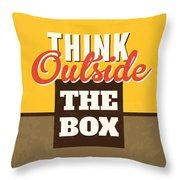 Think Outside The Box Throw Pillow