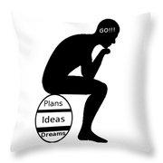 Thinking Egg Throw Pillow
