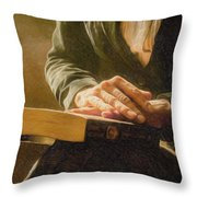 Thinking - Id 16217-152033-4576 Throw Pillow