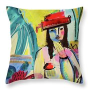 Thinking In Colors Throw Pillow