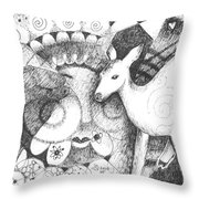 Thinking Of Mary Throw Pillow