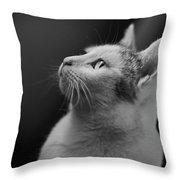 Thinking Of Mouse  Throw Pillow