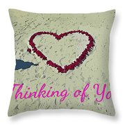 Thinking Of You Card Throw Pillow