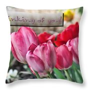 Thinking Of You Greeting Card Throw Pillow