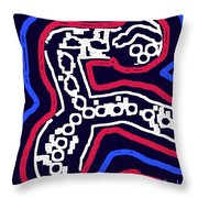 Thinking Red White And Blue Throw Pillow by Alec Drake