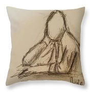 Thinking  Throw Pillow by Steve Jorde